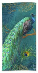 Regal Peacock 3 Midnight Beach Towel