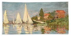 Regatta At Argenteuil Beach Towel