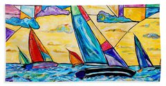 Regatta Beach Towel by Everett Spruill