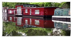 Beach Towel featuring the photograph Regent Houseboats by Keith Armstrong