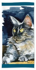 Regina - Maine Coon Painting Beach Towel