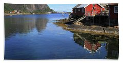 Reine, Norway Beach Towel