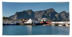 Reinebringen And Hamnoy Beach Towel