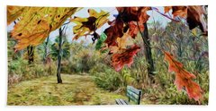 Beach Towel featuring the photograph Relax And Watch The Leaves Turn by Kerri Farley