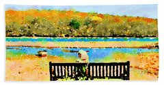 Relax Down By The River Beach Towel
