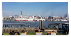 Relax On The Elbe Beach Towel