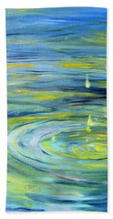 Beach Towel featuring the painting Relaxation by Evelina Popilian