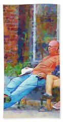Relaxin Cowboy Beach Towel