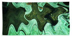 Relaxing Abstract Of Rays And Sharks Beach Towel