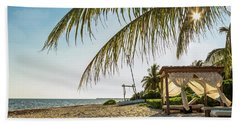 Relaxing Cabana On Beach In Mexico Beach Towel