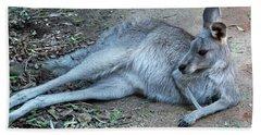 Beach Sheet featuring the photograph Relaxing Kangaroo by Miroslava Jurcik