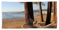 Relaxing On Lake Tahoe Beach Towel