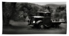 Beach Towel featuring the photograph Relic Truck by Bill Wakeley