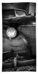 Old Car - Blue Ridge Mountains Beach Sheet