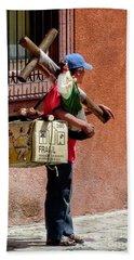 Religious Art Salesman Beach Sheet