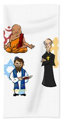 Religious Icons Beach Sheet
