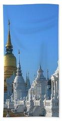 Wat Suan Dok Reliquaries Of Northern Thai Royalty Dthcm0947  Beach Towel