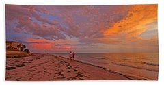 Beach Towel featuring the photograph Remains Of The Day by HH Photography of Florida