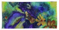 Remember The Flowers Beach Sheet by Donna Blackhall