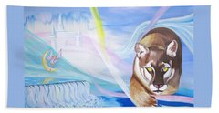 Beach Towel featuring the painting Remembering Childhood Dreams by Phyllis Kaltenbach