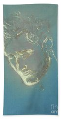 Beach Towel featuring the painting Remembering You by Jane See