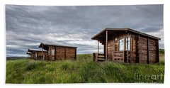 Beach Sheet featuring the photograph Remote Cabins Myvatn Iceland by Edward Fielding