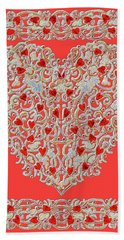 Renaissance Style Heart Beach Sheet