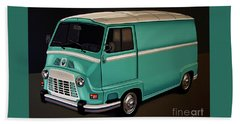 Renault Estafette 1959 Painting Beach Towel