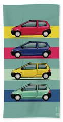 Renault Twingo 90s Colors Quartet Beach Towel