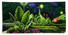 Rendezvous In The Park Beach Towel by Michael Frank