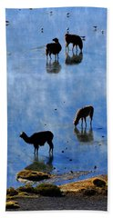 Beach Towel featuring the photograph Rendezvous by Skip Hunt