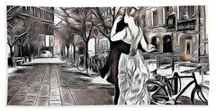 Renoir In Stokholm Collage Renoir Beach Towel