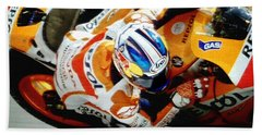 Repsol Honda Beach Towel by Bill Stephens