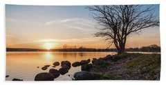Reservoir Sunset Beach Towel