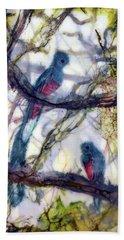 Resplendent Quetzal #1 Beach Sheet
