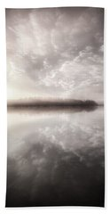 Beach Towel featuring the photograph Rest In His Peace Bw by Rose-Maries Pictures