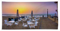 Restaurant Sunrise, Spain. Beach Sheet