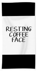 Resting Coffee Face-art By Linda Woods Beach Towel