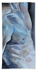 Beach Sheet featuring the painting Resting by Jindra Noewi