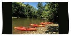 Resting Kayaks Beach Sheet