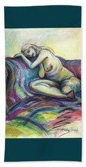 Resting Place  Beach Sheet by Kerryn Madsen-Pietsch