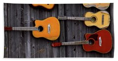 Retired Guitars  Beach Towel