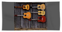 Retired Guitars  Beach Towel