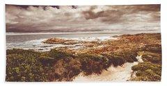 Retro Beach Tracks Beach Towel