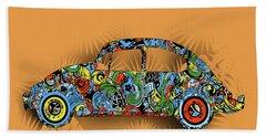 Retro Beetle Car 4 Beach Towel