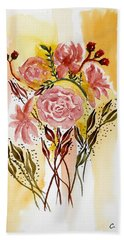 Retro Florals Beach Towel