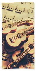 Retro Folk And Blues Beach Towel