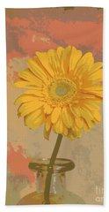 Pop Art Gerber Daisy Beach Sheet