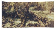 Retro River Crossing Beach Towel