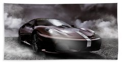 Retro Sports Car - Formule 1 Beach Towel